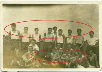 Stara fotografia S.K.S Asnyk Kalisz ? - L.Z.S. Opatówek opis