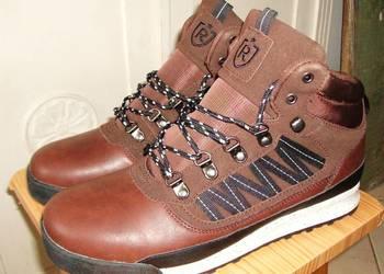 RESERVED skórzane męskie brązowe buty  botki skóra r.44 na sprzedaż  Warszawa