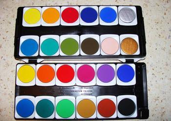 Profesjonalne Farby Wodne -24 kolorów firmy Pelikan NAJTANIEJ