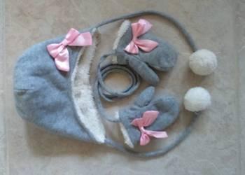 Czapka + rękawiczki dla dziewczynki 2-3 letniej