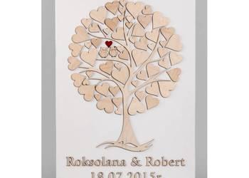 ORYGINALNA Księga Gości Drewniane drzewko na płótnie