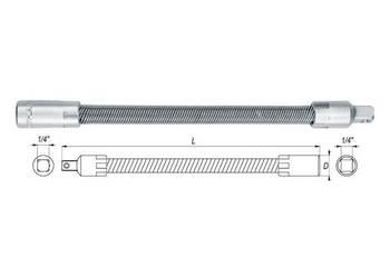 Przedłużka elastyczna 1/4'' 150mm YATO YT-1400