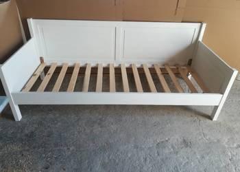 Łóżko drewniane białe 80x80x dziecięce