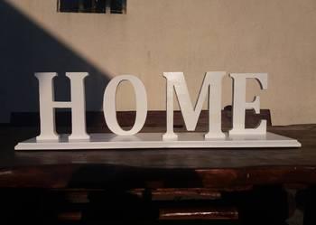 Napis drewniany HOME, dekoracja, ozdoby, litery, rękodzieło