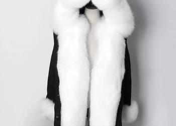 ciepły długi płaszcz zimowy