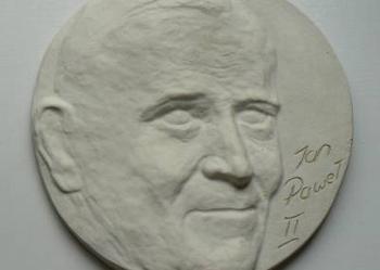 Jan Paweł II – odlew gips