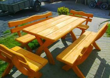 Meble ogrodowe, barowe, drewniane, z drewna.Transport 100 zł