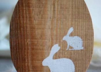 Jajko wielkanocne styl norweski naturalne drewniane