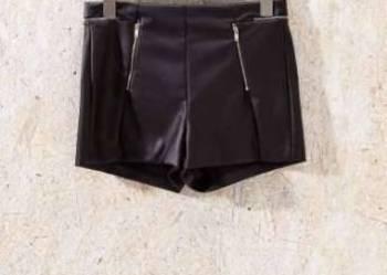 Szorty SinSay wysoki stan rozmiar 36 S eko skóra czarne