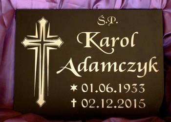 tablica nagrobna na krzyż na grób tabliczka na nagrobek