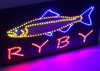 Reklama LED RYBY zewnętrzna 68cm NOWA