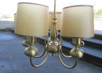 Żyrandol metalowy lampa 5 pięć abażurów WYSYŁKA