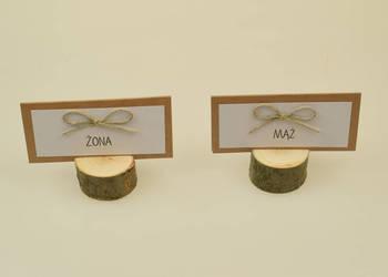 Drewniane podstawki, stojaki pod Winietki, Wizytówki