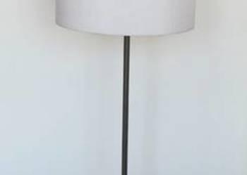 Lampa mosiężna stojąca, duża, dwa punkty świetlne