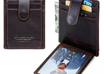 2bff99c53 Skórzany portfel męski ContactS SLIM RFID STOP …