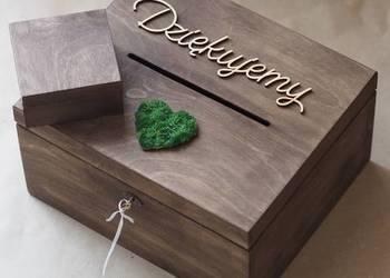 Zestaw ślubny- skrzynka na koperty 30x25x15 + pudełko