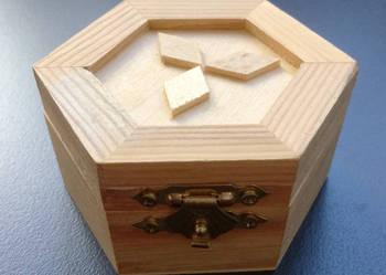Szkatułka drewniana, drewniane puzderko