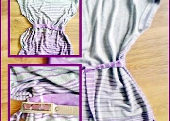 67435ca709 Dzianinowa Sukienka Tunika 2 sposoby koła boho hipie S M L Pruszków ...
