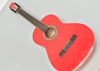 ELYPSE Gitara Klasyczna czerwona PIĘKNA + GRATIS!