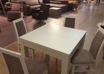 Komplet stół dębowy Ernest II + 4x krzesła | Meble Dąb