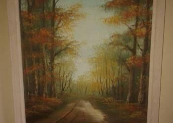 Stary obraz malowany na płótnie