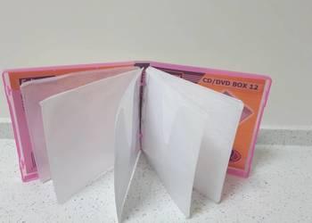 Etui pokrowiec futerał BOX 12 CD DVD różowy