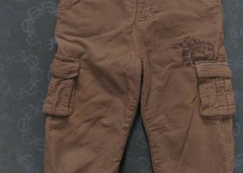 Szare, sztruksowe spodnie - z C&A (Disney) - stan idealny.