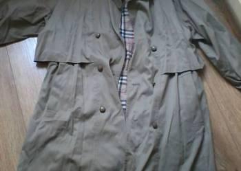 Dwurzędowy oliwkowy płaszcz