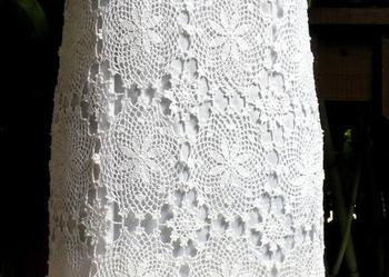 Sprzedam białą sukienkę na szydełku, piękna, handmade