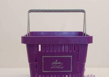 Koszyk sklepowy plastikowy z 2 rączkami