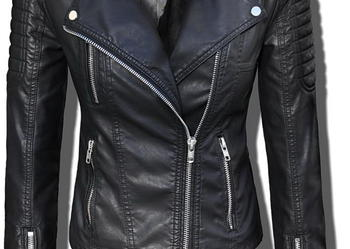 Kurtka Damska Ramoneska MOTO -Wiosna Jesień Biker Jacket #70