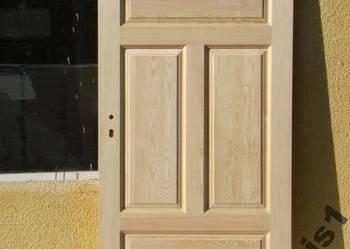 Drzwi drewniane sosnowe bezsęczne