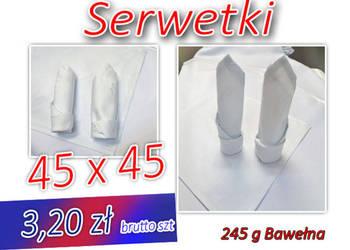 Serwetki 45x45 bawełna NOWE