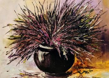 Kowalik - Wrzosy  obraz olejny 50x40cm