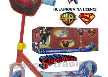 Trójkołowa Trzykołowa Hulajnoga SUPERMAN WARNER 3 Koła