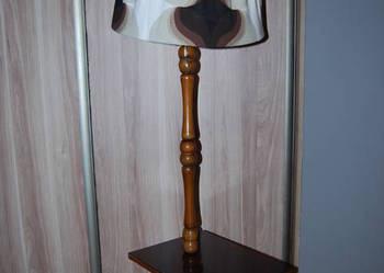 lampa stojąca z abażurem prl