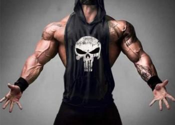 Koszulka Tank top na siłownie PUNISHER z Kapturem