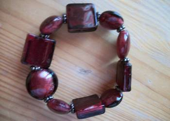 bransoletka ciemno-czerwona
