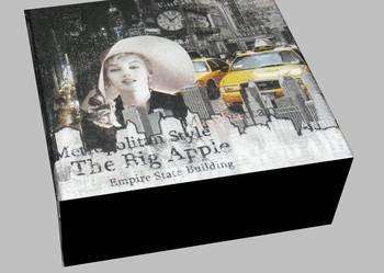Pudełko drewniane szkatułka Marilyn decoupage wzory