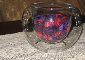 Ozdobne naczynie szklane,wazon