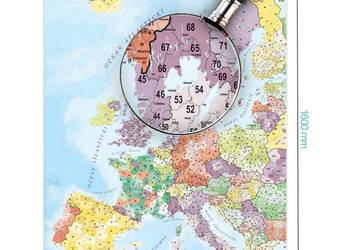 EUROPA MAPA Kodowa 1:2600000 160x120 Ścienna F-Vat
