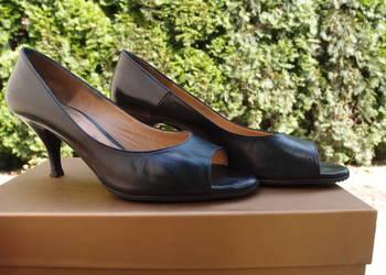 5490010a Venezia czarne eleganckie czółenka szpilki 38,5 …