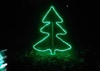 CHOINKA ozdoba świąteczna ozdoby świąteczne LED 2D wąż