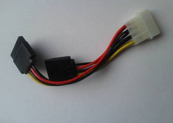 Rozgałęźnik kabel zasilający MOLEX - 2x SATA