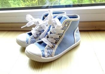 buty sportowe wysokie trampki niebieskie r 24 dł  16,5 cm