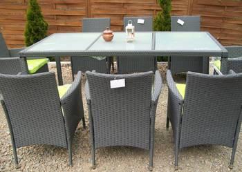 8+1 zestaw meble ogrodowe technorattan fotel