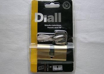 DIALL - Wkładka bębenkowa 30x30 MOSIĄDZ