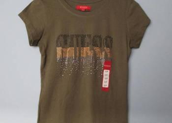 a4daa1b4a Zielona khaki koszulka Guess, t-shirt guess z napisami …