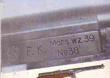 (4155 PISTOLET MASZYNOWY WZ. 1939 MORS – IRENEUSZ J. WOJCIECHOWSKI