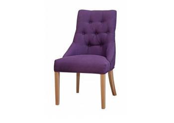 Krzesło fotel z kołatką tapicerowane pikowane z pinezkami
